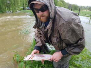 Early May Fly Fishing Pennsylvania Rainbow Trout 2017