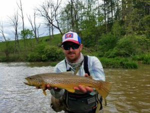Best Pennsylvania streamer fly fishing Biggest Wild Trout Pennsylvania Trout Haven Spruce Creek PA Guided Fly Fishing Trip