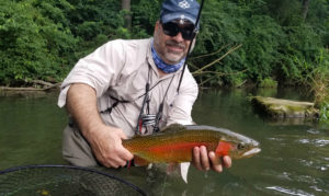 Summer Fly Fishing in Central PA rainbow trout japanese beetle terrestrial
