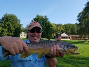 PA Fall Fly Fishing spruce creek trout haven brown trout Chubby Chernobyl