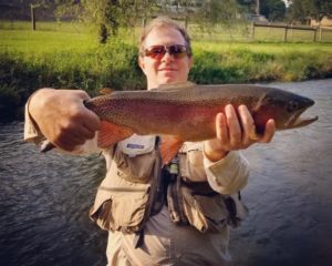 PA Fall Fly Fishing spruce creek trout haven rainbow trout Chubby Chernobyl