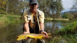 PA Fly fishing brown trout spruce creek trout haven