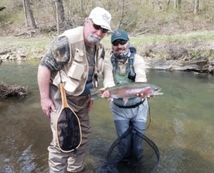 PA Spring Fly Fishing Season Trout Haven Spruce Creek rainbow trout Grannom Caddis