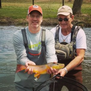 PA Spring Fly Fishing Season Trout Haven Spruce Creek brown trout streamers