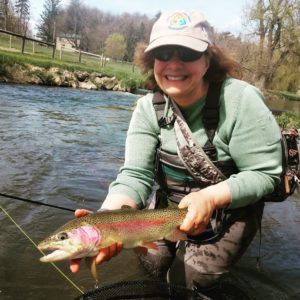 Early May PA fly fishing trout haven spruce creek