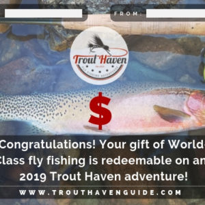 gift certificate trout haven