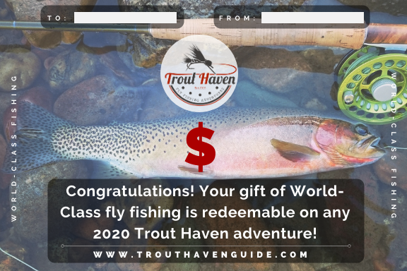 Trout Haven Gift Certificate 2020