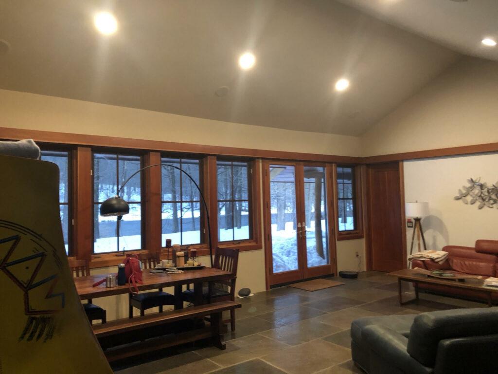 living room & back porch