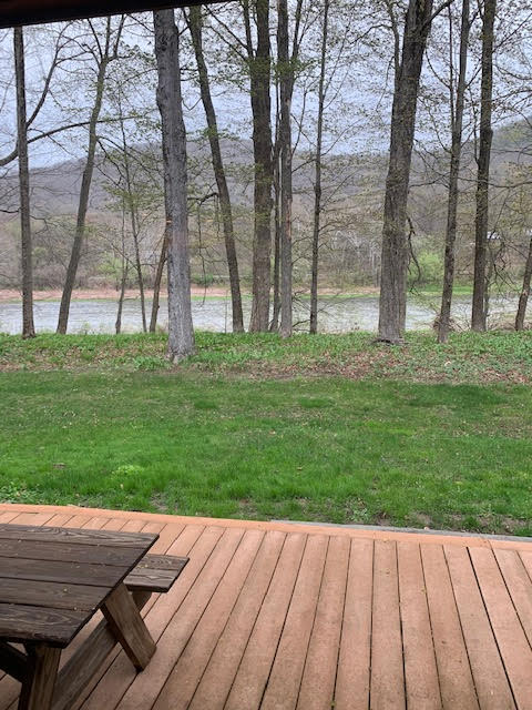 river from house